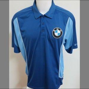 Sz XL Blue Under Armour Men db Poly #35N Golf Polo